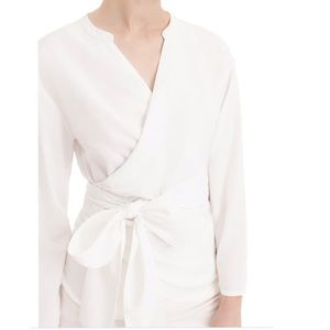 J.Crew Sara Oxford wrap long sleeve top (L3/5)